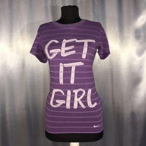 """Nike womens """"Get it Girl"""" t-shirt"""